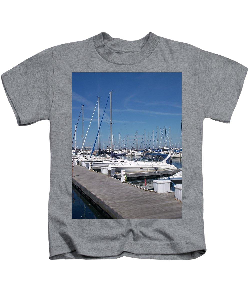 Mckinley Marina Kids T-Shirt featuring the photograph Mckinley Marina 6 by Anita Burgermeister