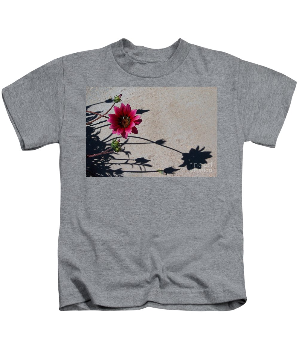Flowers Kids T-Shirt featuring the photograph Me And My Shadow by Kathy McClure