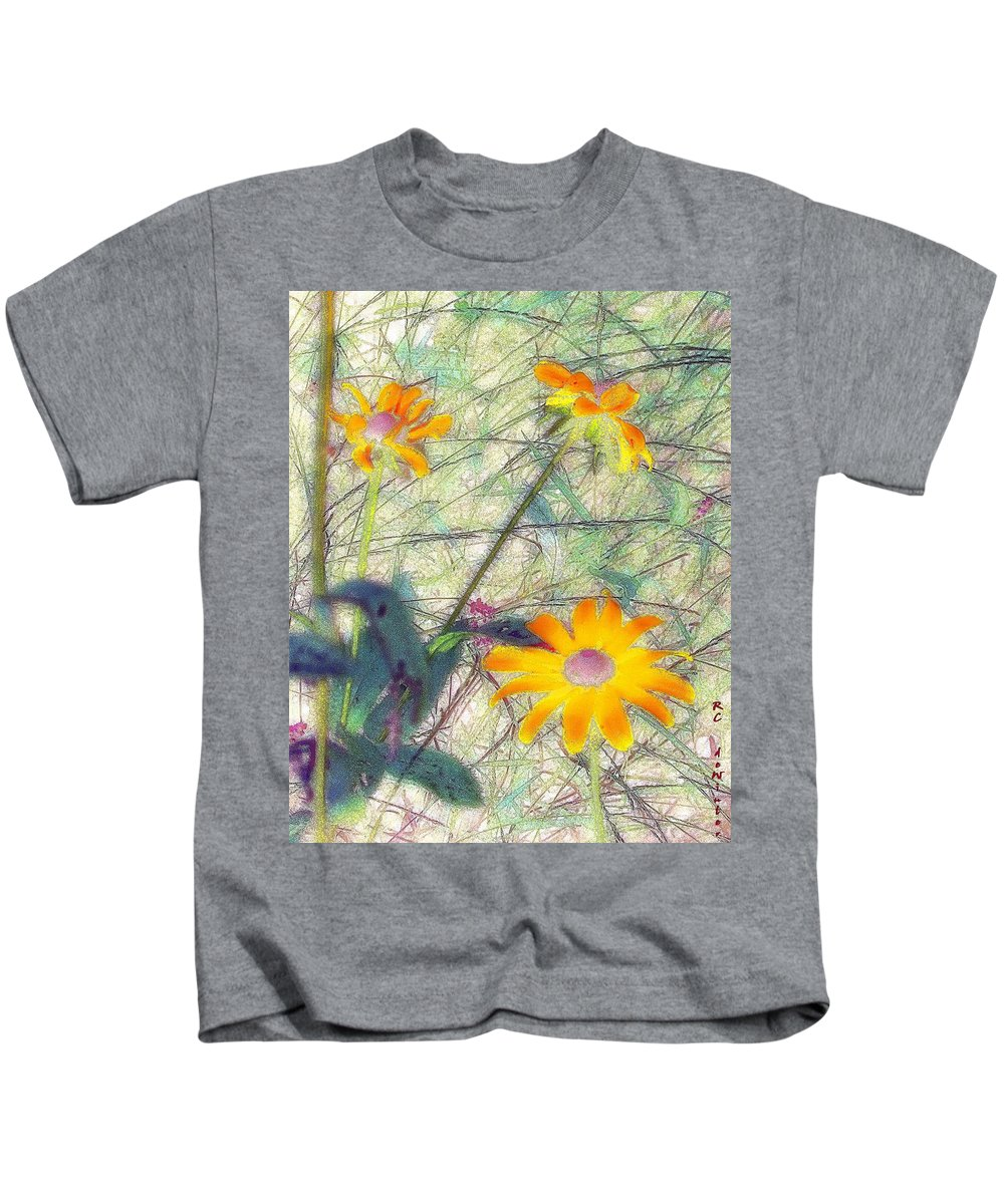 Bright Kids T-Shirt featuring the painting Meadow Out Loud by RC DeWinter