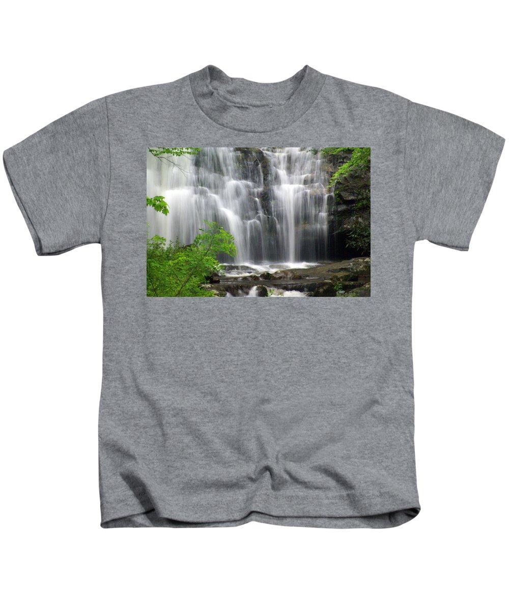 Meigs Falls Kids T-Shirt featuring the photograph Meigs Falls 2 by Marty Koch