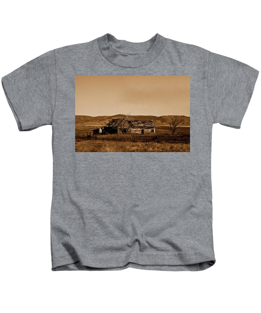 Old West Kids T-Shirt featuring the photograph Melancholy by Joseph Noonan