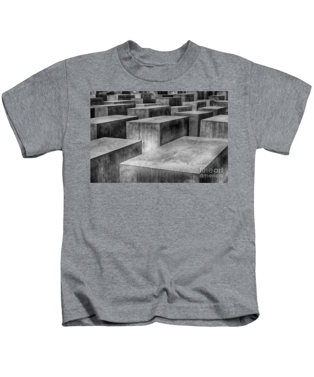 Memorial Kids T-Shirt featuring the photograph Memorial To The Murdered Jews Of Europe by Teresa Zieba