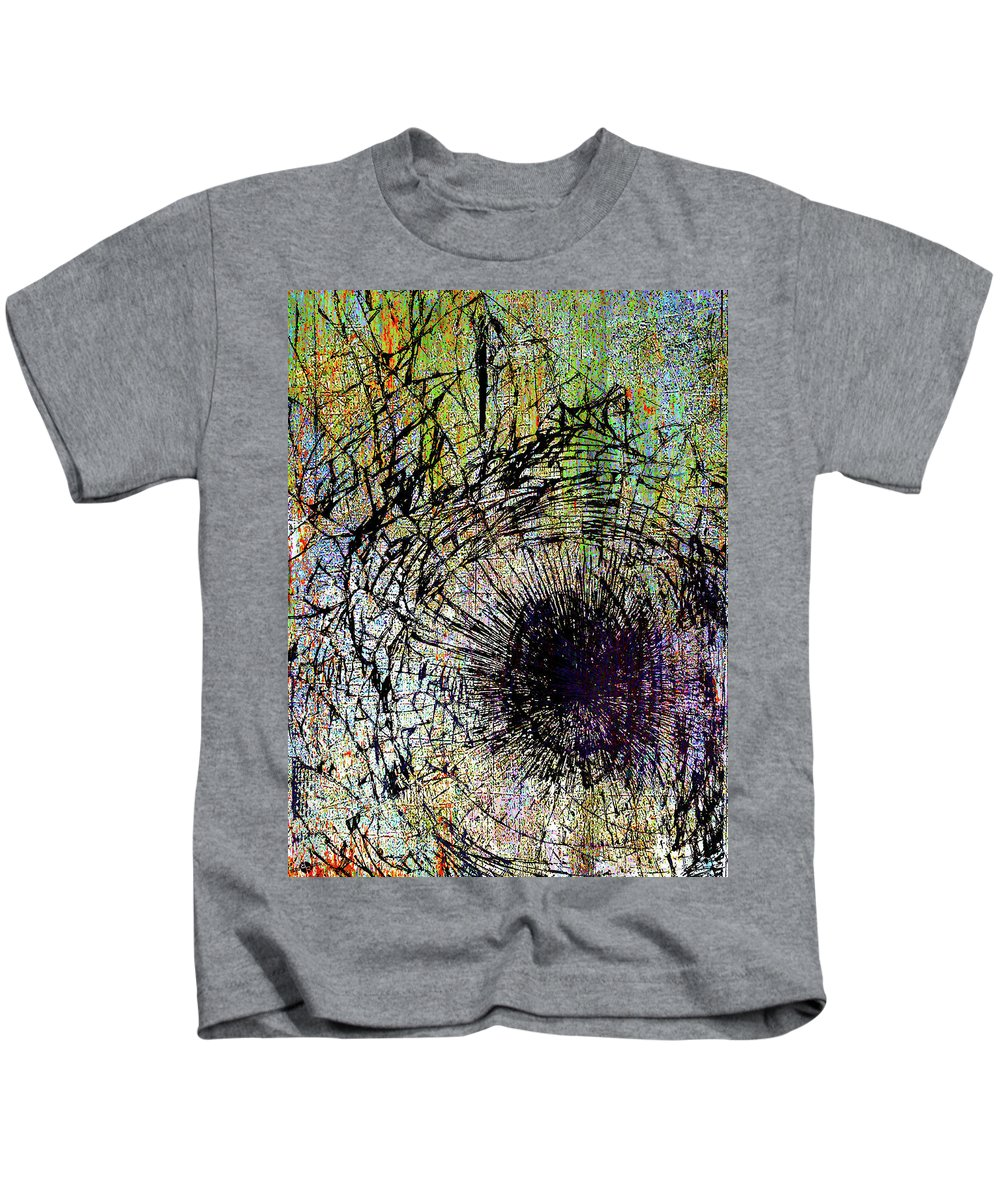 New York City Kids T-Shirt featuring the mixed media Mercy by Tony Rubino
