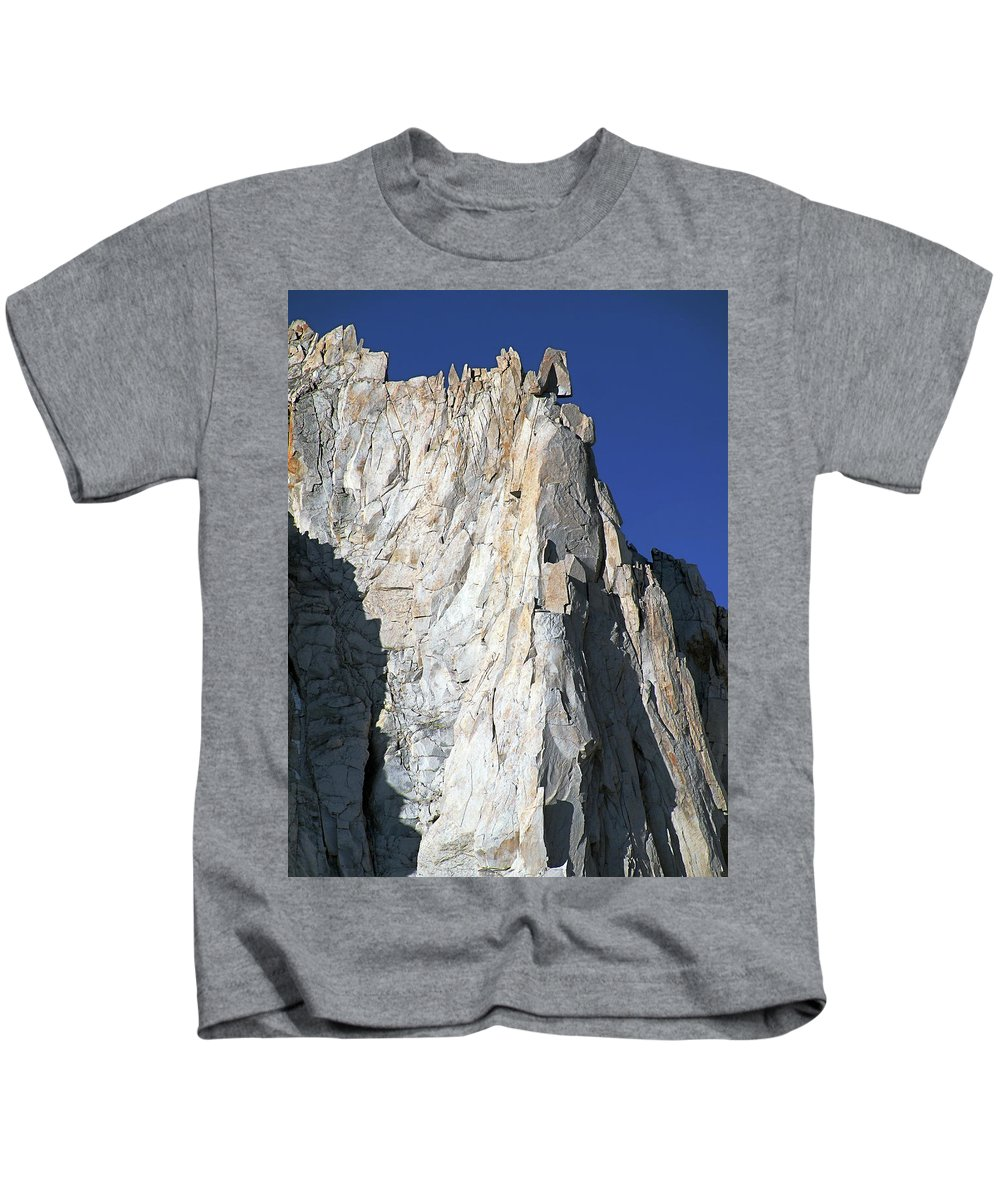 Sierra Nevada Kids T-Shirt featuring the photograph Merriam Peak, Sierra Nevada, August 2016 by Timothy Giller