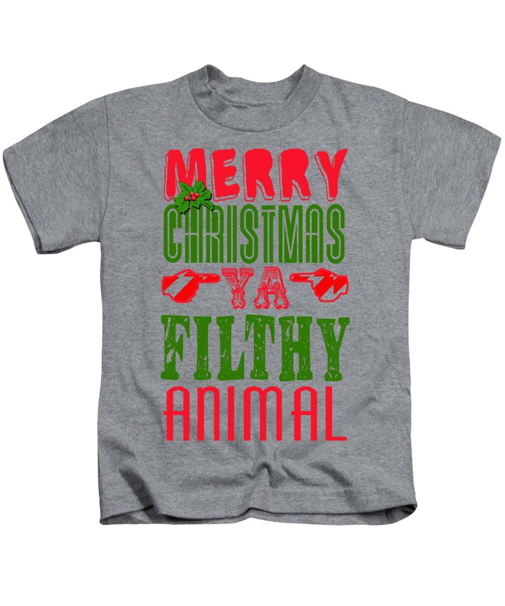 Merry Christmas Ya Filthy Animal Shirt.Merry Christmas Ya Filthy Animal Kids T Shirt