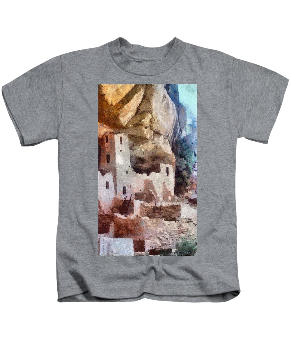 American Southwest Kids T-Shirt featuring the painting Mesa Verde by Jeffrey Kolker