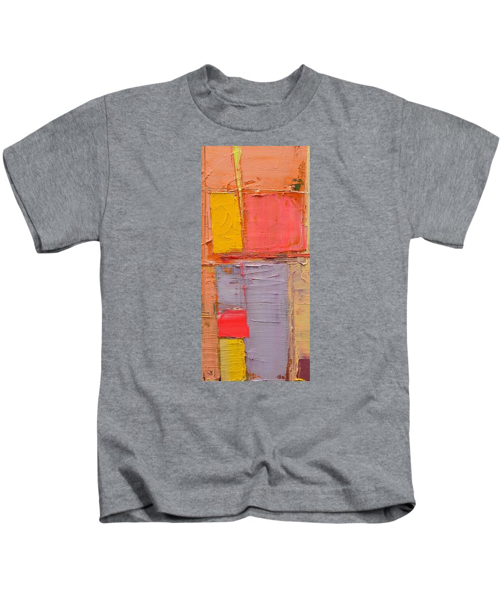 Abstract Kids T-Shirt featuring the painting Messages 1 by Ana Maria Edulescu