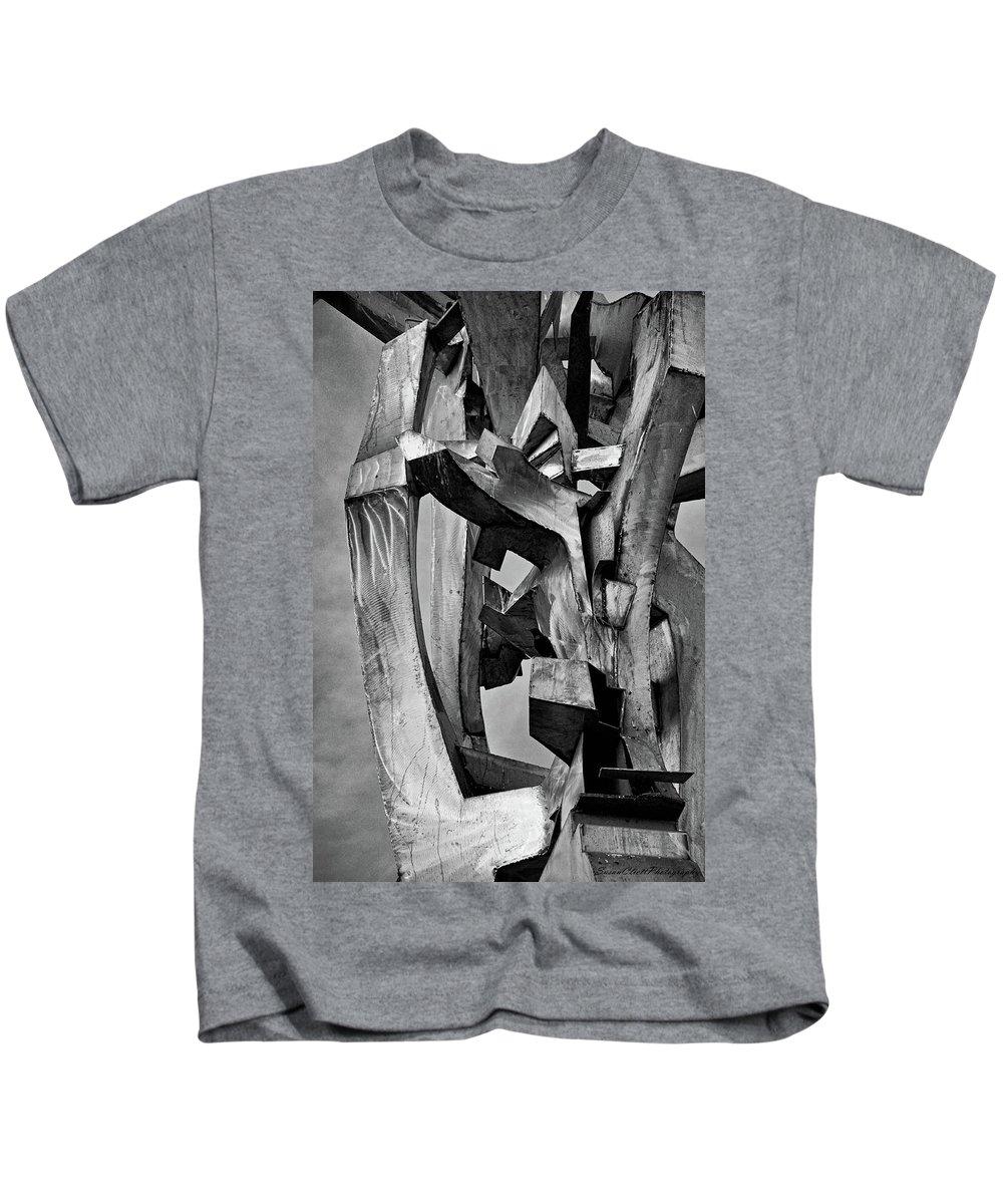 Metal Kids T-Shirt featuring the photograph Metal Sculpture by Susan Cliett