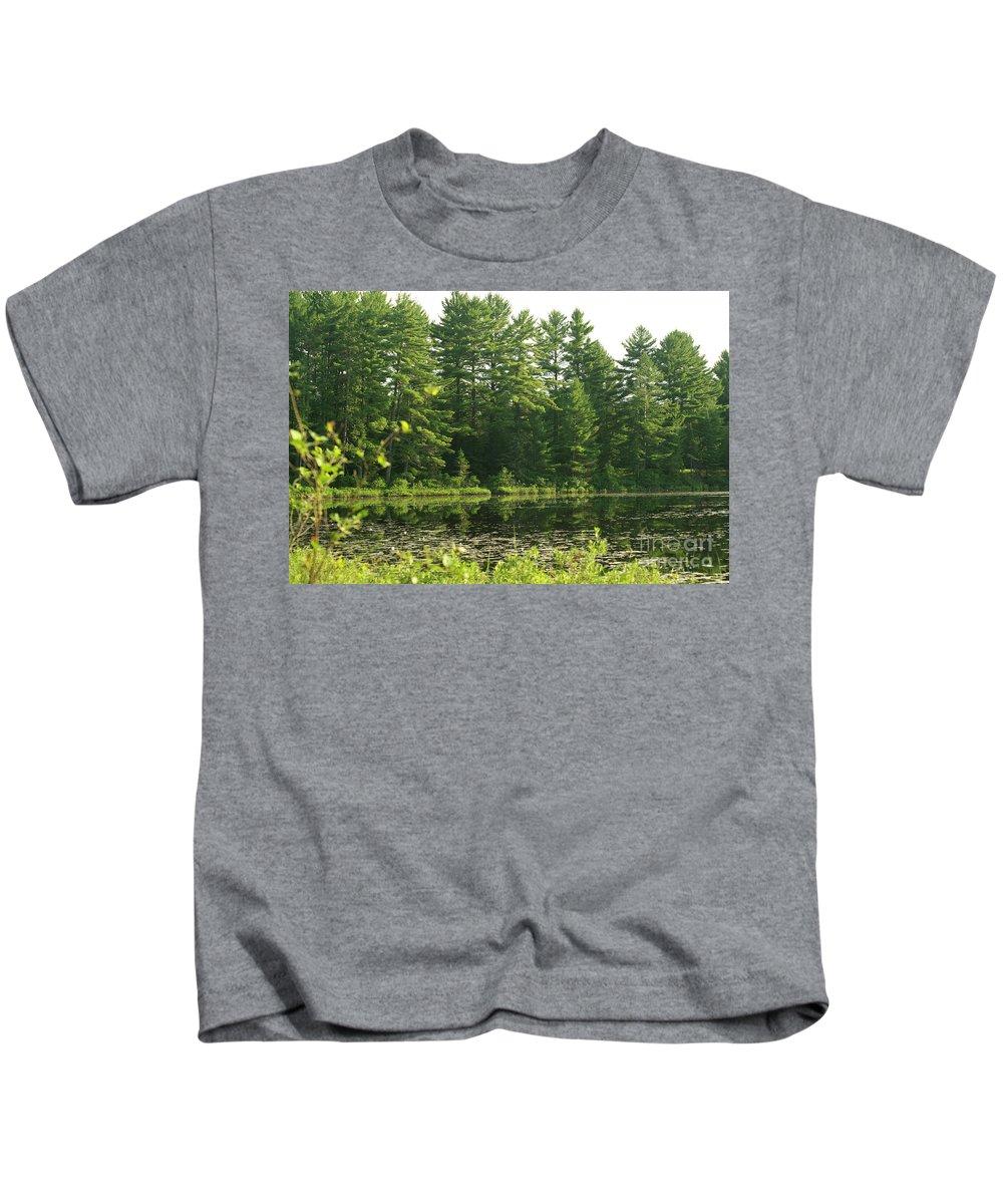 Mew Lake Kids T-Shirt featuring the photograph Mew Lake Algonquin Park by Elaine Mikkelstrup