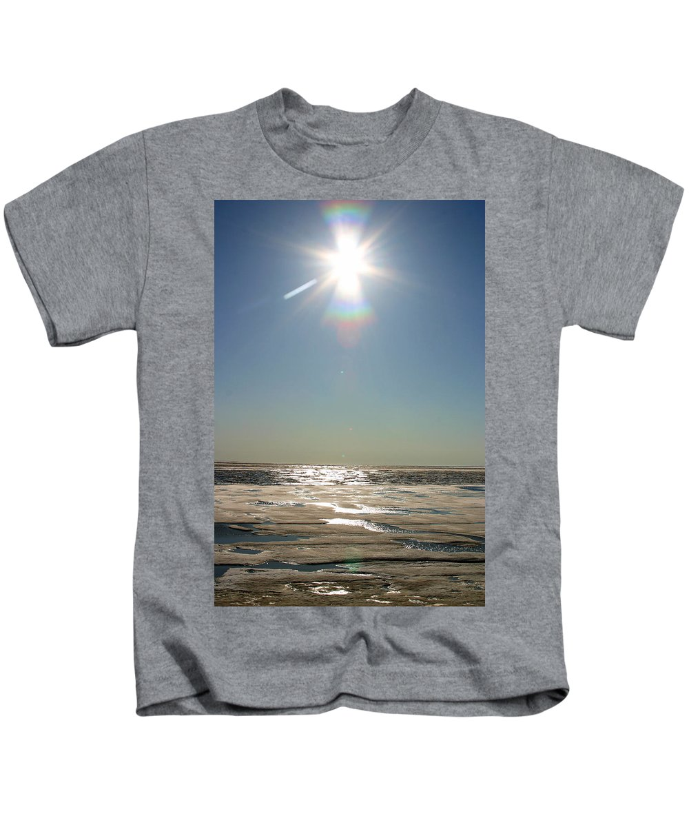Arctic Kids T-Shirt featuring the photograph Midnight Sun Over The Arctic by Anthony Jones