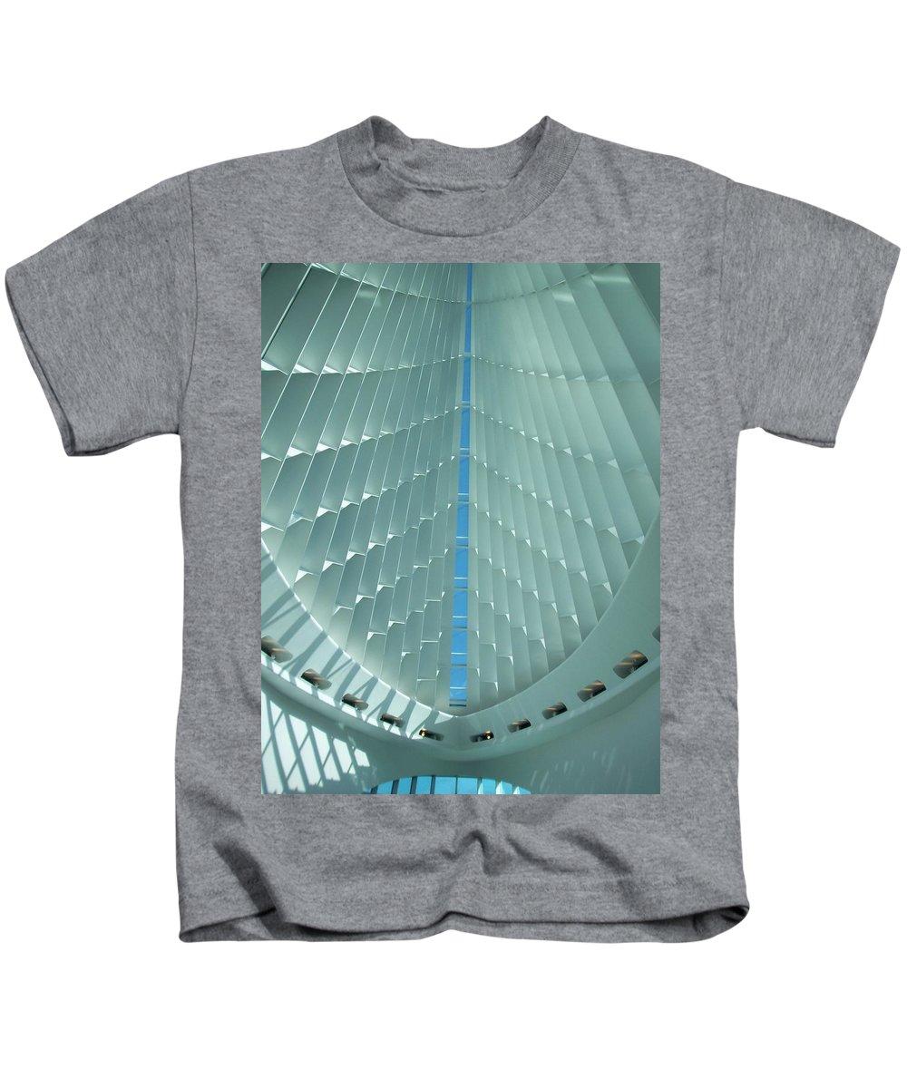 Mam Kids T-Shirt featuring the photograph Milwaukee Art Museum Interior by Anita Burgermeister