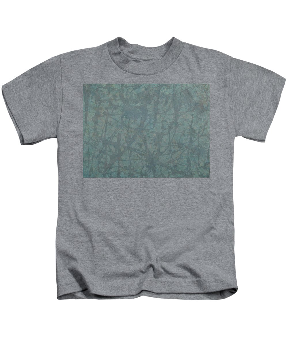 Minimal Kids T-Shirt featuring the painting Minimal Number 3 by James W Johnson