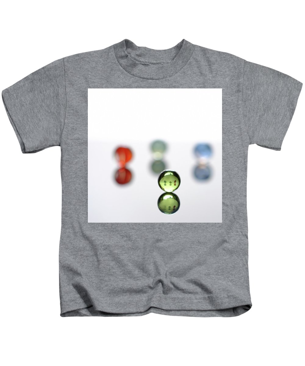 Marble Kids T-Shirt featuring the photograph Minimalist Marbles #3 by Jon Woodhams
