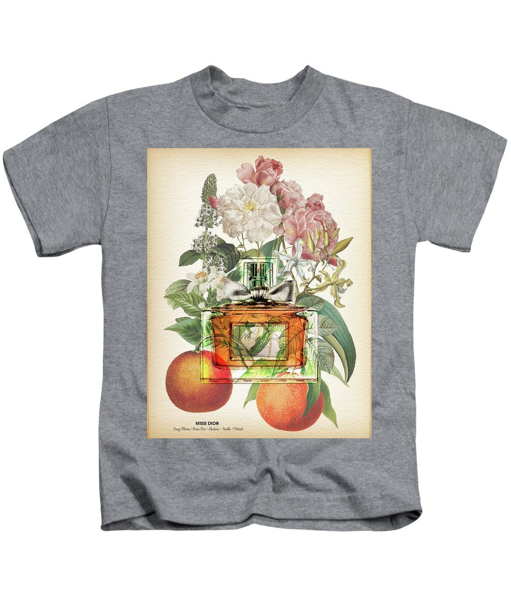 Dior Kids T-Shirt featuring the digital art Miss Dior Notes 1 - By Diana Van by Diana Van