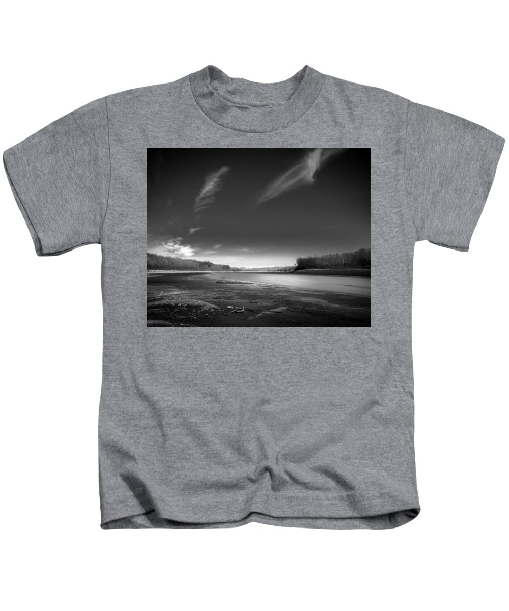 Black And White Kids T-Shirt featuring the photograph Mississinewa Landscape by Michael Thompson