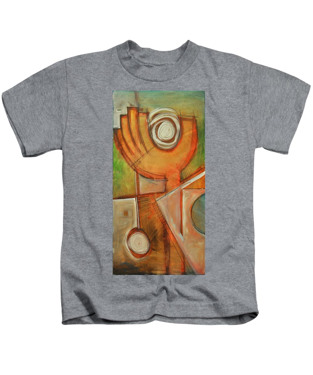 Hand Kids T-Shirt featuring the painting Moanin by Tim Nyberg