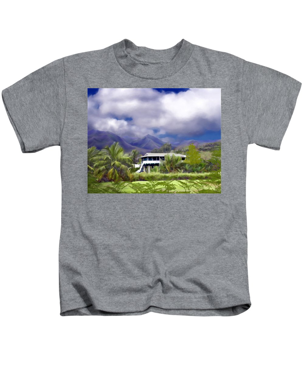 Hawaii Kids T-Shirt featuring the photograph Moloa A Bay Hideaway by Kurt Van Wagner