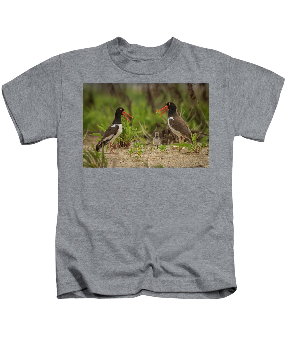 Wildlife Kids T-Shirt featuring the photograph Mom, Dad And Me by Joe Gliozzo