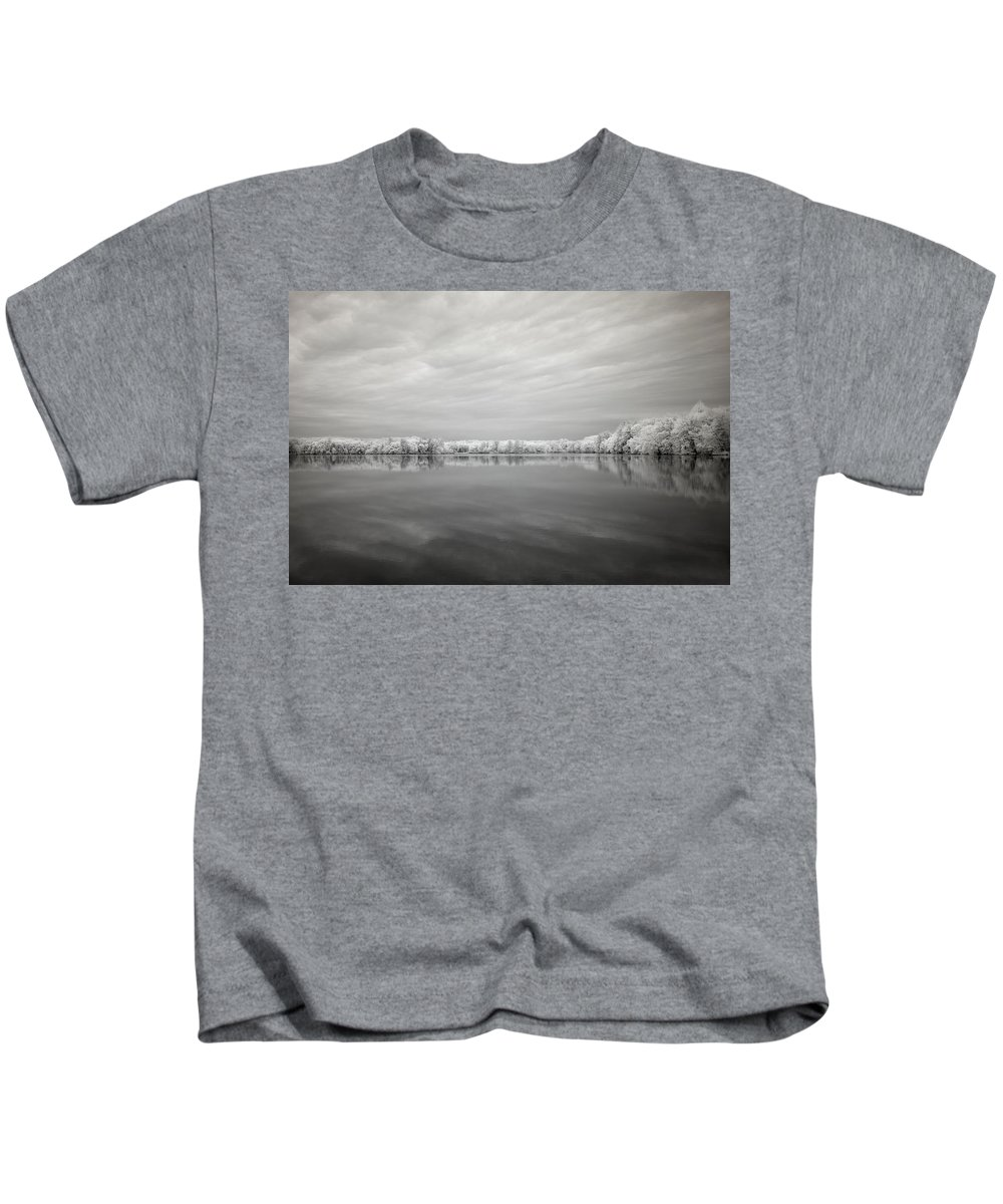 Infrared Kids T-Shirt featuring the photograph Moment Of Silence by Luke Moore
