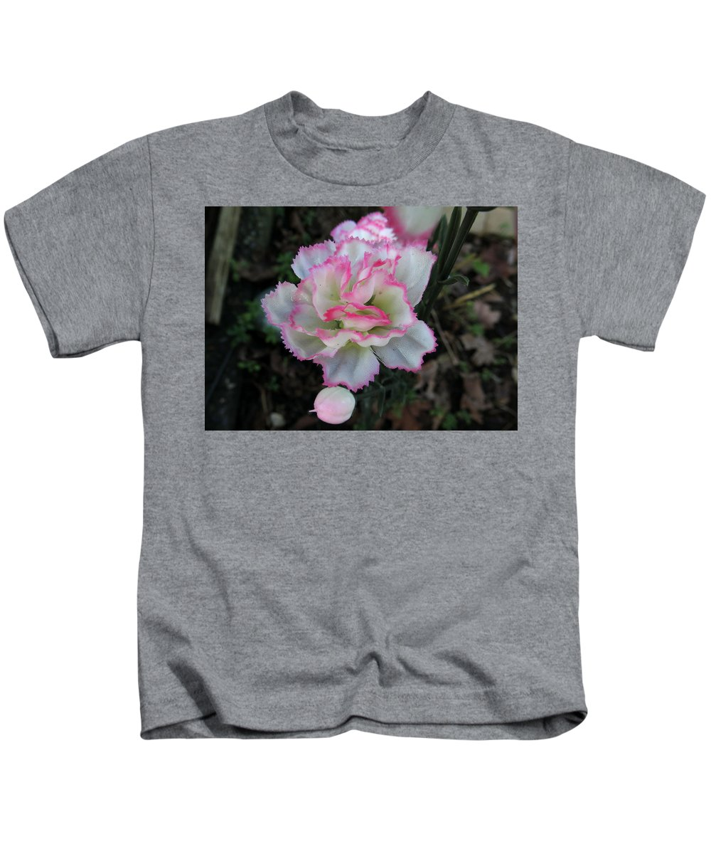 Synthetic Flowers Kids T-Shirt featuring the photograph Monday February 1 2016 by Darrell MacIver