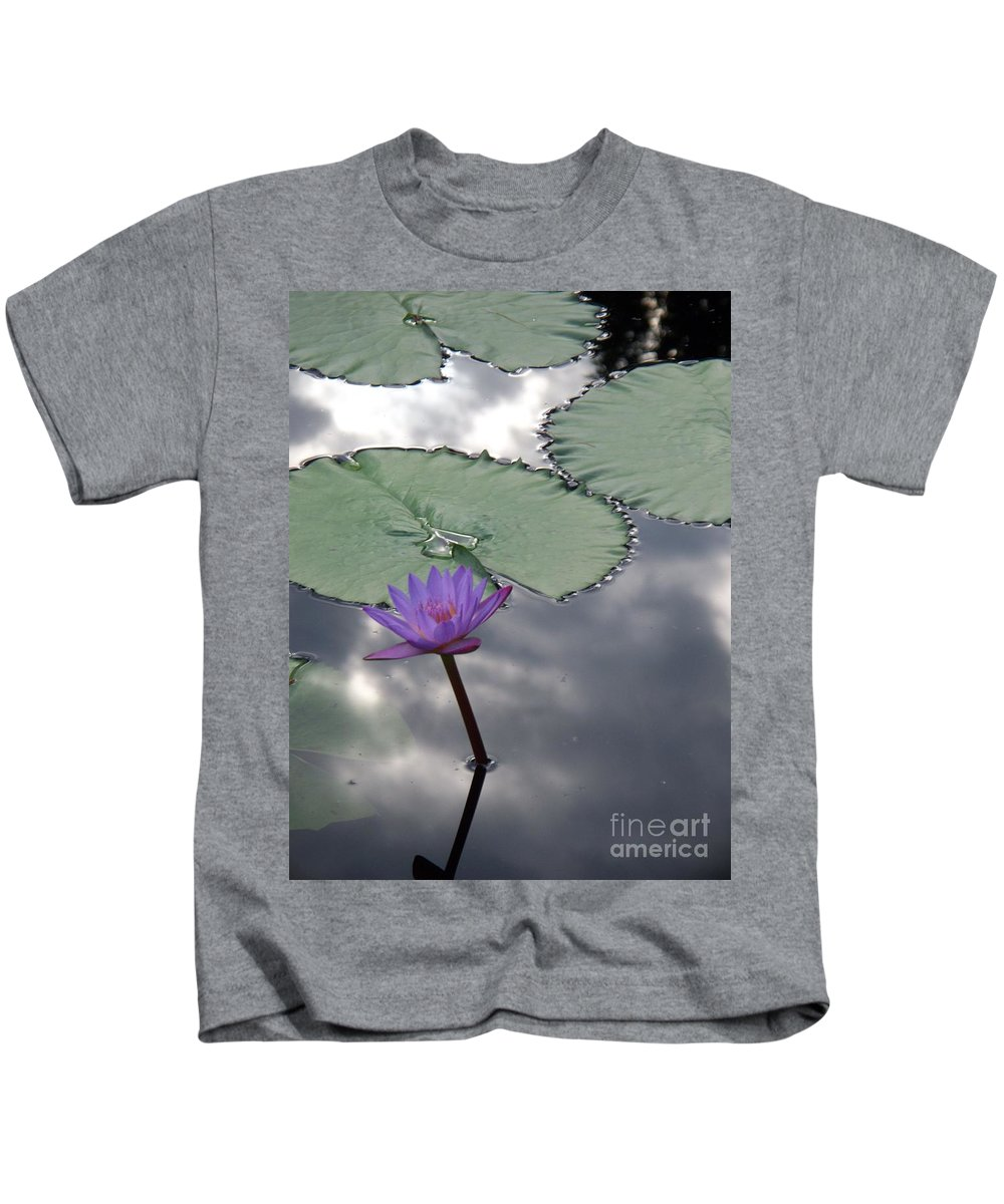 Photograph Kids T-Shirt featuring the photograph Monet Lily Pond Reflection by Eric Schiabor