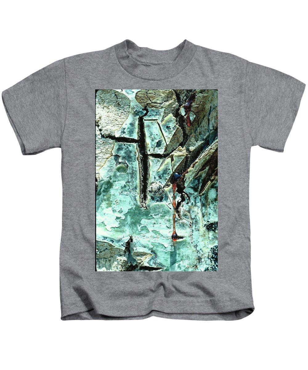 Trees Kids T-Shirt featuring the photograph Mono Birch Bark by Norman Andrus