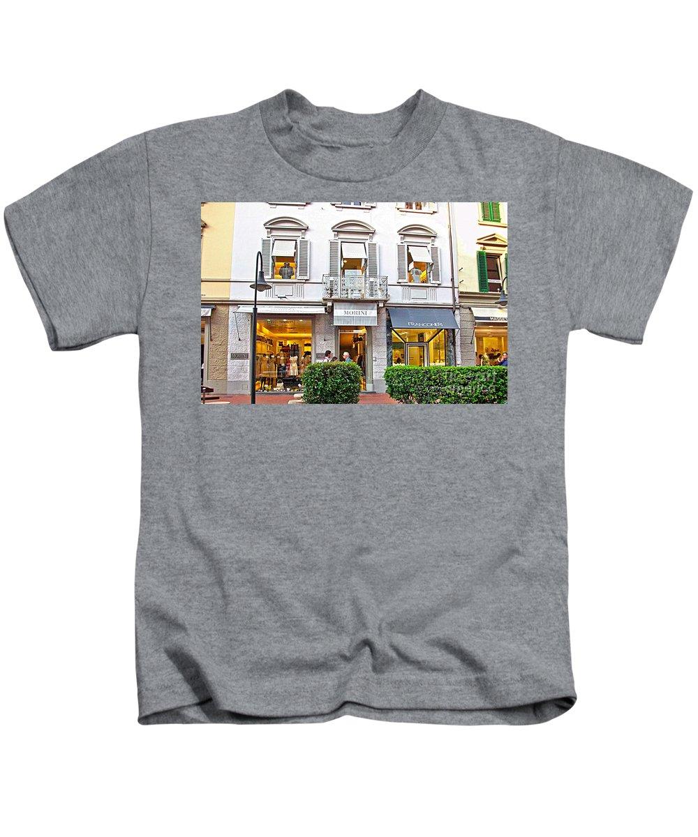 Montecatini Kids T-Shirt featuring the photograph Montecatini-8 by Rezzan Erguvan-Onal