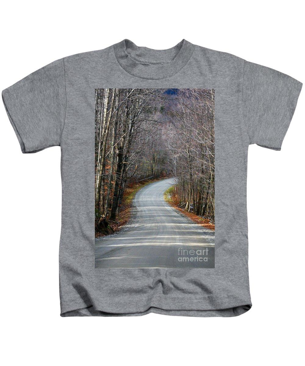 Rural Kids T-Shirt featuring the photograph Montgomery Mountain Rd. by Deborah Benoit