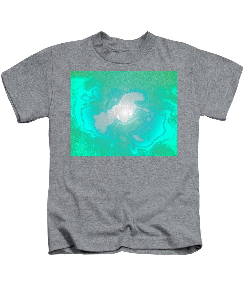 Moon Kids T-Shirt featuring the digital art Moon Drop by Ricklene Wren