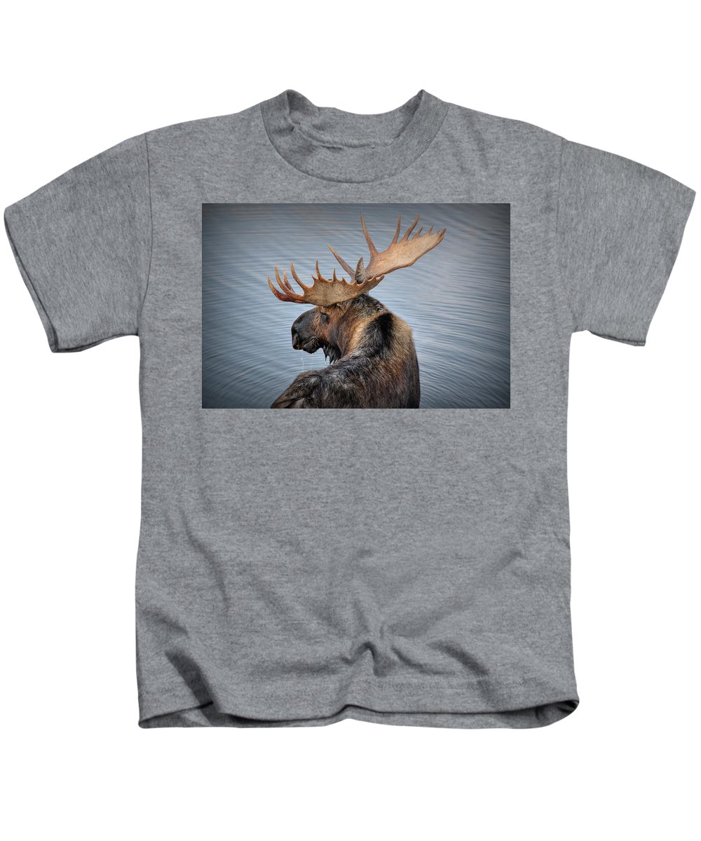 Moose Kids T-Shirt featuring the photograph Moose Drool by Ryan Smith