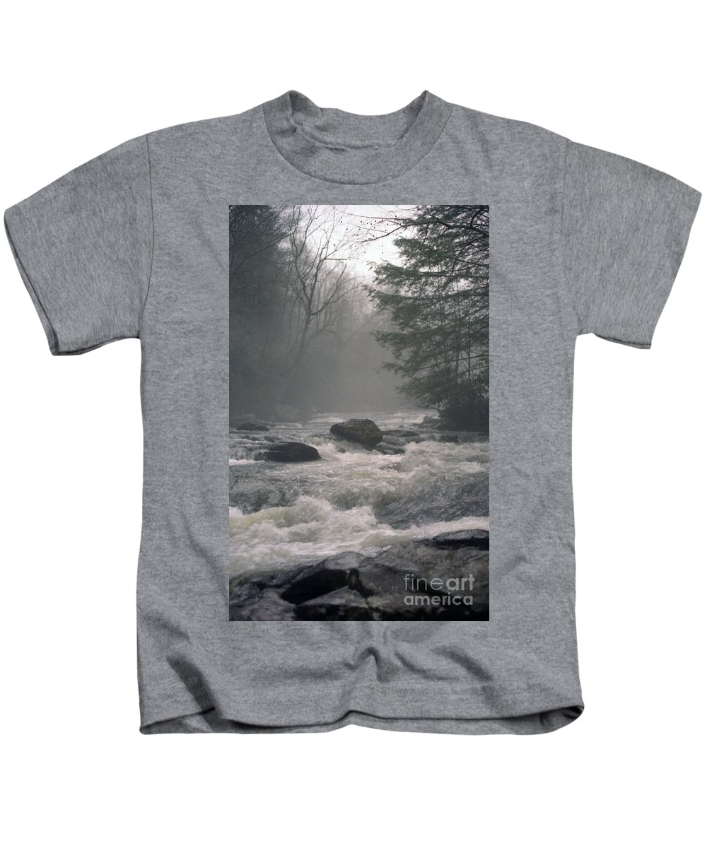 Rivers Kids T-Shirt featuring the photograph Morning At The River by Richard Rizzo
