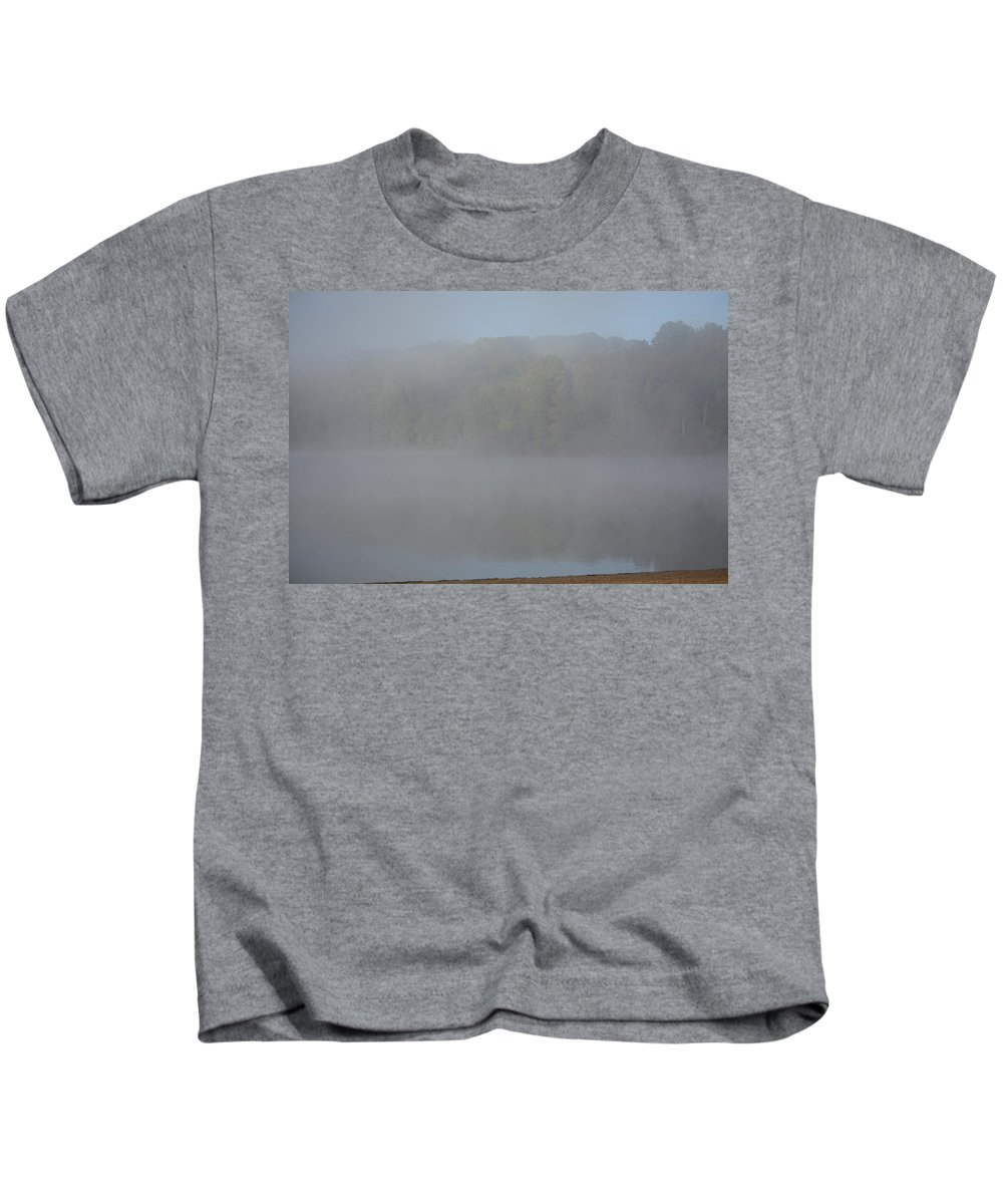 Lake Kids T-Shirt featuring the photograph Morning Mist by David Irwin