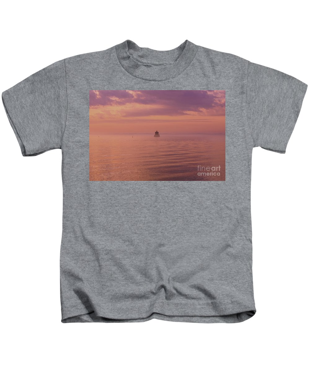 Altered Kids T-Shirt featuring the photograph Morning On The Sound by Joe Geraci