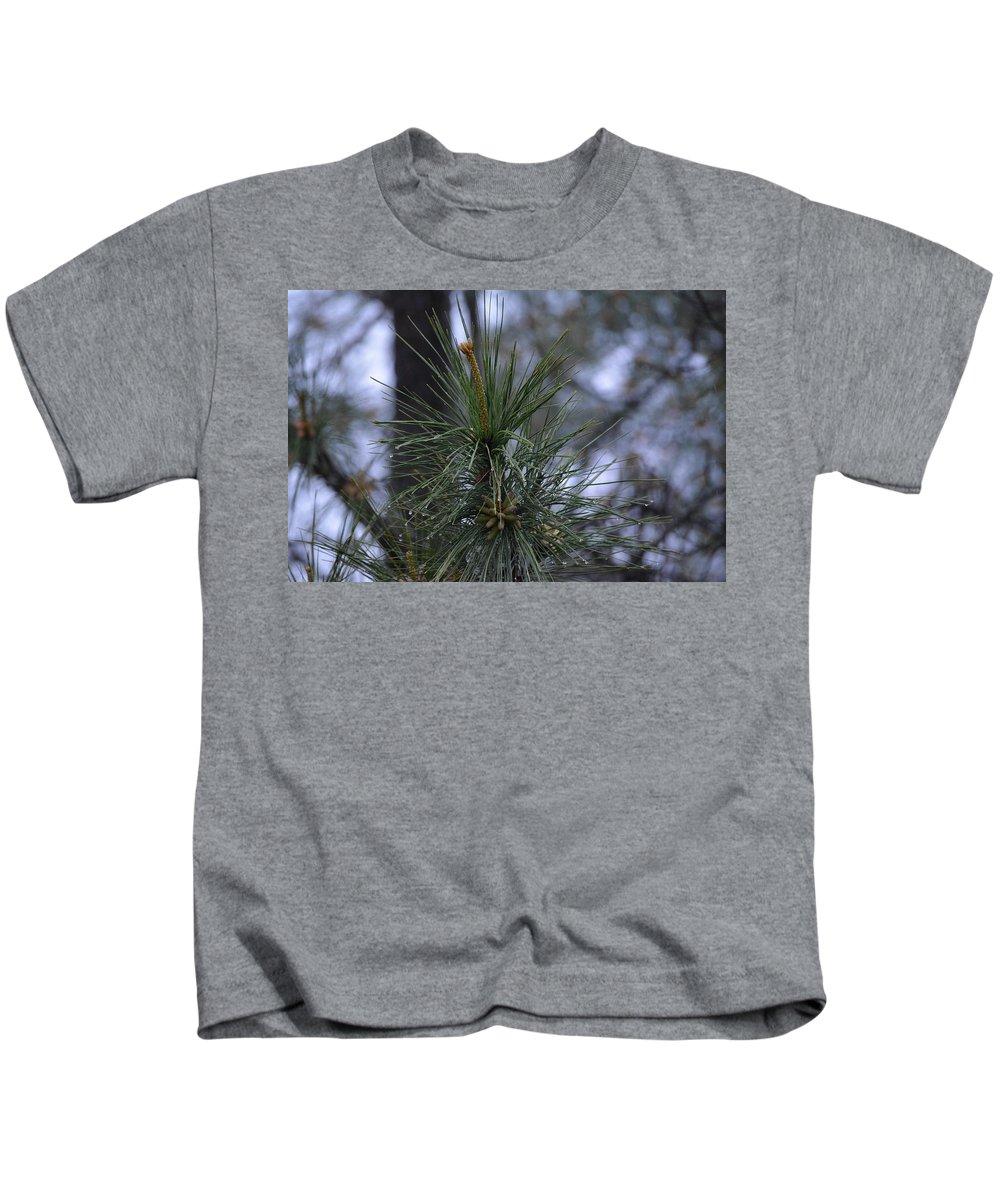 Rain Kids T-Shirt featuring the photograph Morning Rain by Meg M