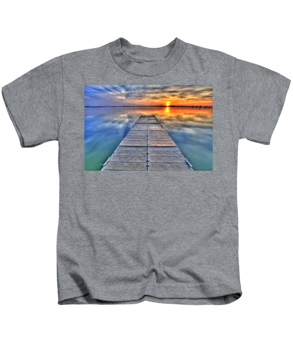 Dock Kids T-Shirt featuring the photograph Morning Sky by Scott Mahon
