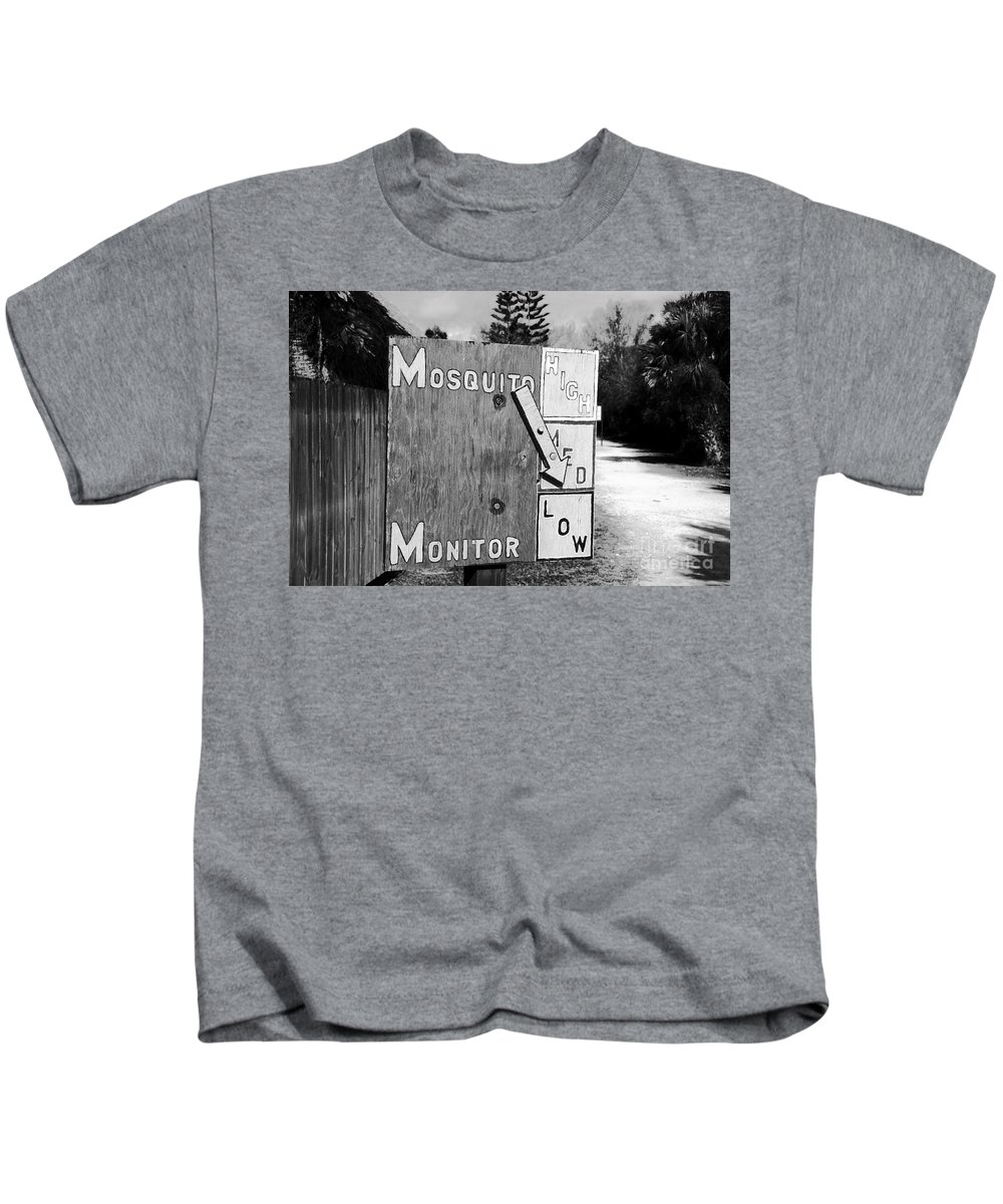 Mosquito Kids T-Shirt featuring the photograph Mosquito Monitor by David Lee Thompson
