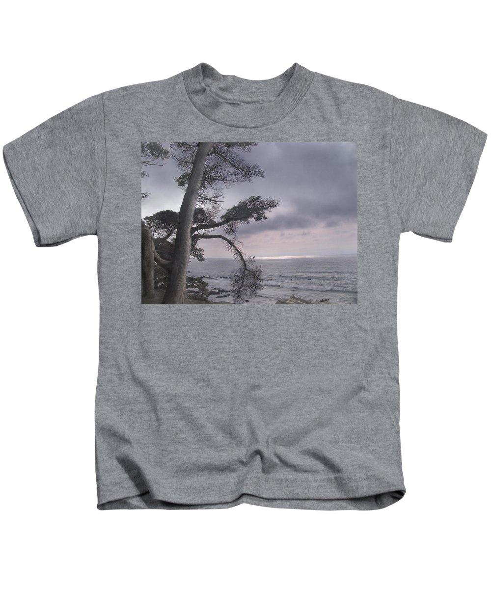 Ocean Kids T-Shirt featuring the photograph Moss Beach by Karen W Meyer