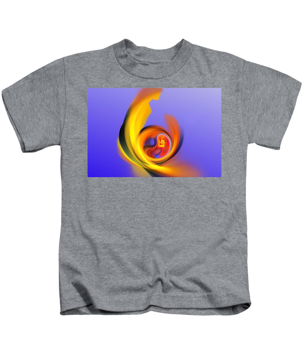 Fine Art Kids T-Shirt featuring the digital art Mother And Child by David Lane