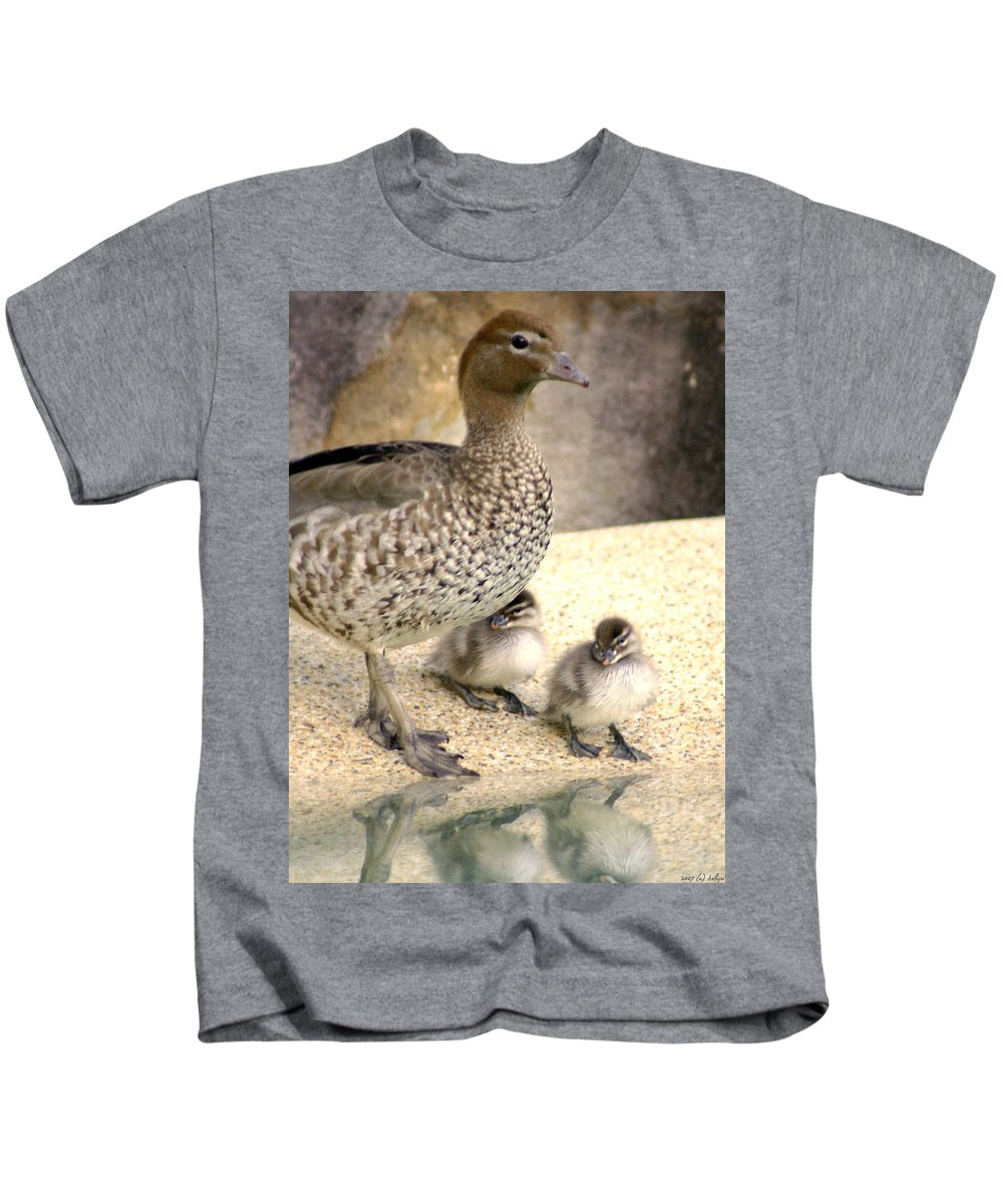 Animals Kids T-Shirt featuring the photograph Mother Of Twins by Holly Kempe