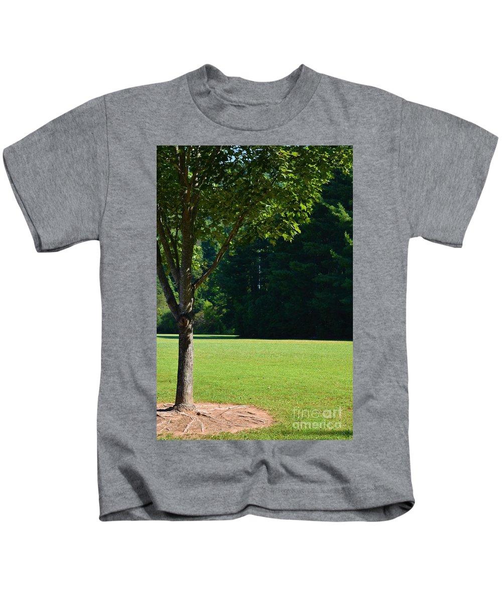 North Carolina Kids T-Shirt featuring the photograph Mount Pisgah by Lisa Kleiner