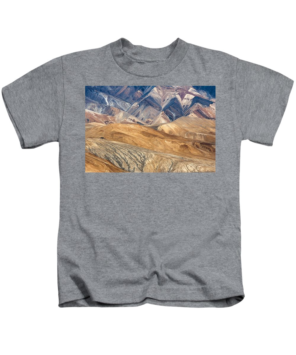 Mountain Kids T-Shirt featuring the photograph Mountain Abstract 4 by Hitendra SINKAR