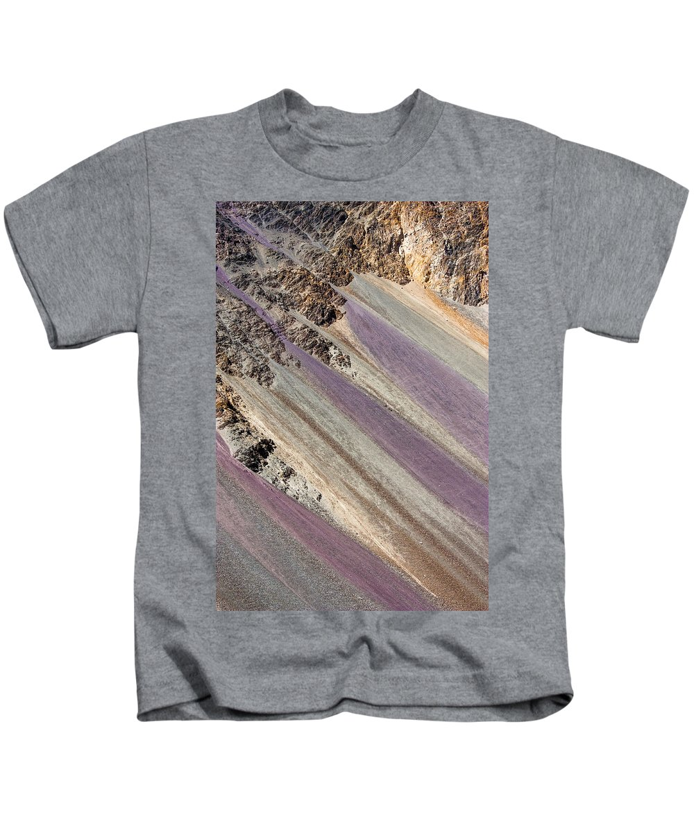 Mountain Kids T-Shirt featuring the photograph Mountain Abstract 5 by Hitendra SINKAR
