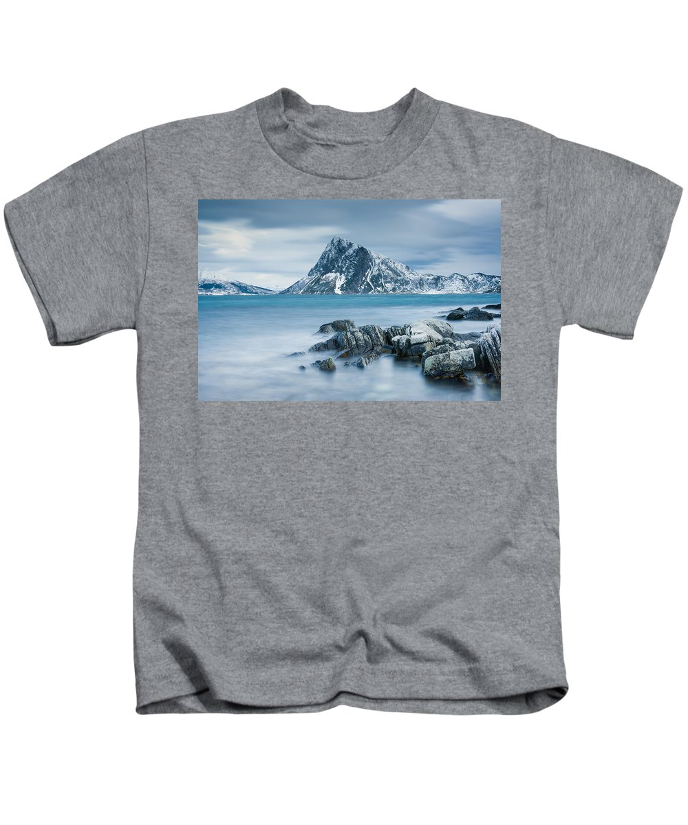Beach Kids T-Shirt featuring the photograph Mountain Blues by Michael Blanchette