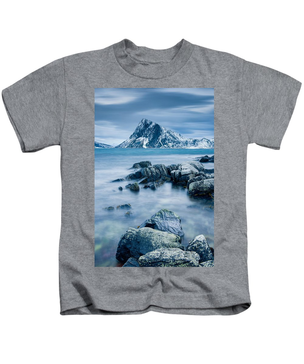 Beach Kids T-Shirt featuring the photograph Mountain Blues - Verticald by Michael Blanchette