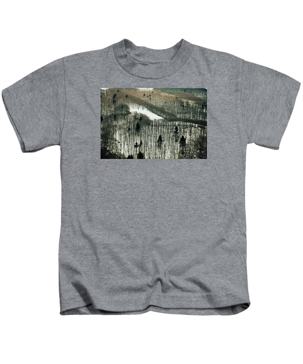 Mountain Kids T-Shirt featuring the photograph Mountain Forest by Vittorio Chiampan
