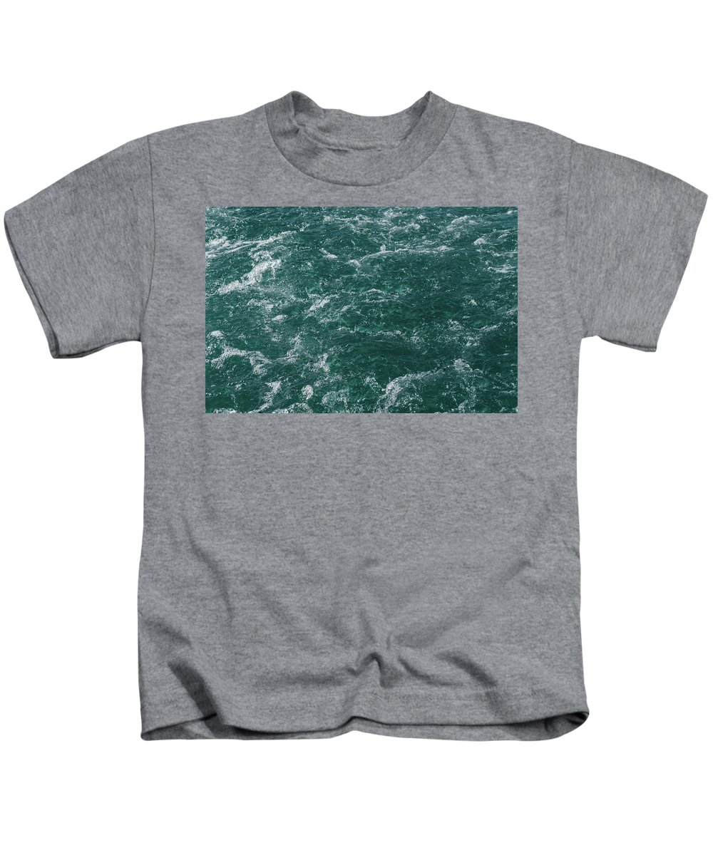 Turquoise Kids T-Shirt featuring the photograph Mountain River by Happy Home Artistry