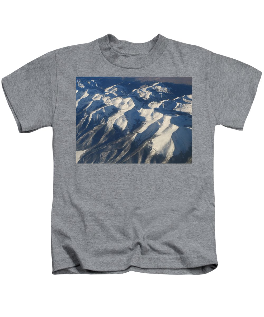 Landscape Kids T-Shirt featuring the photograph Mountains by Darlene VerSluys