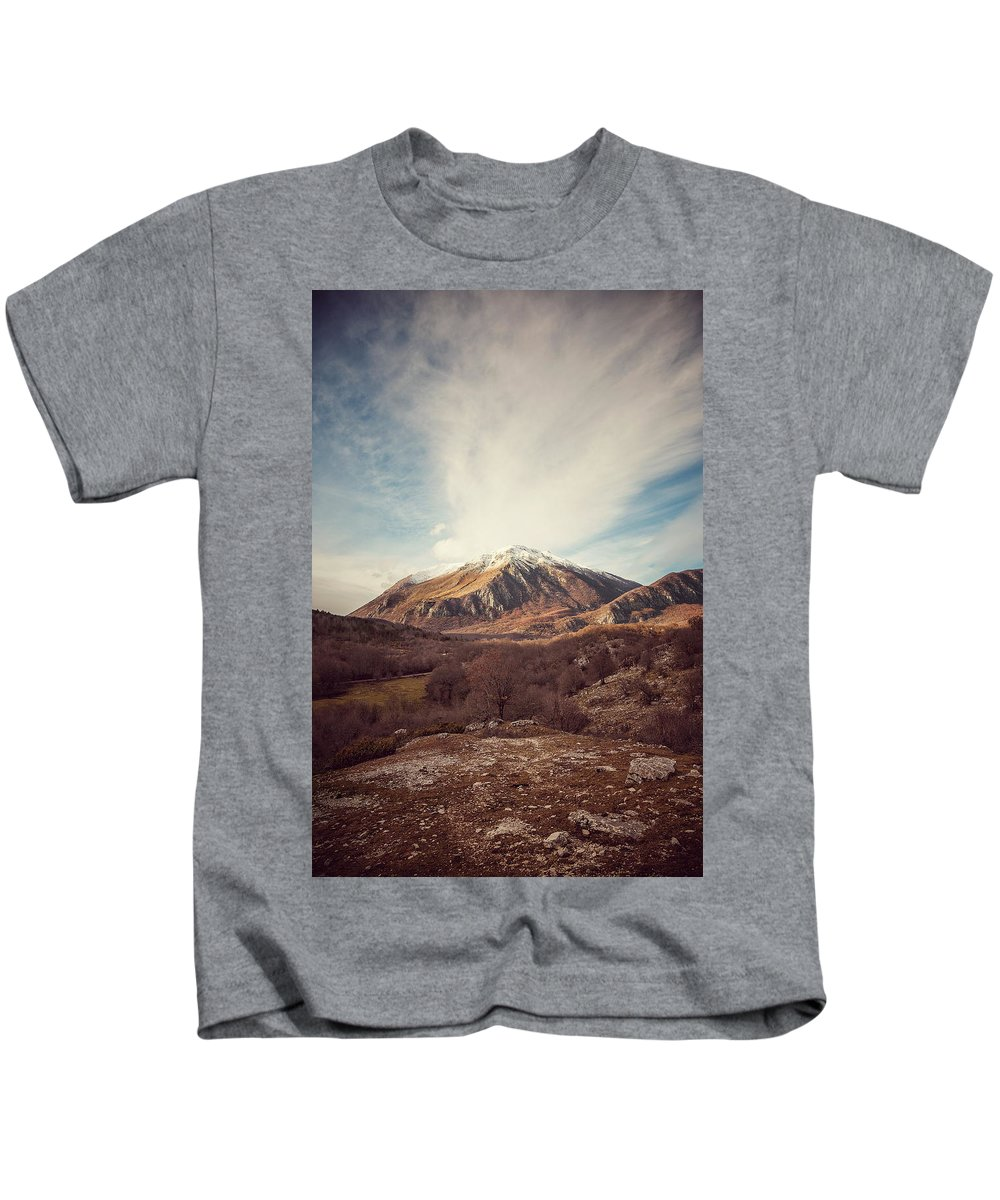 Landscape Kids T-Shirt featuring the photograph Mountains In The Background Xvii by Salvatore Russolillo