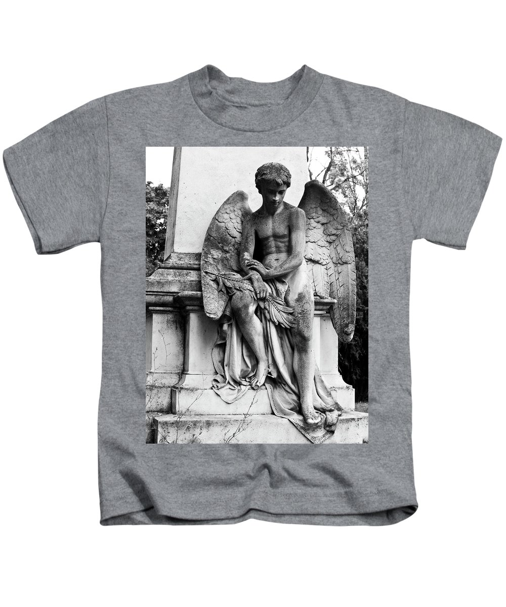 Cemetery Kids T-Shirt featuring the photograph Mourning Angel by Rae Tucker