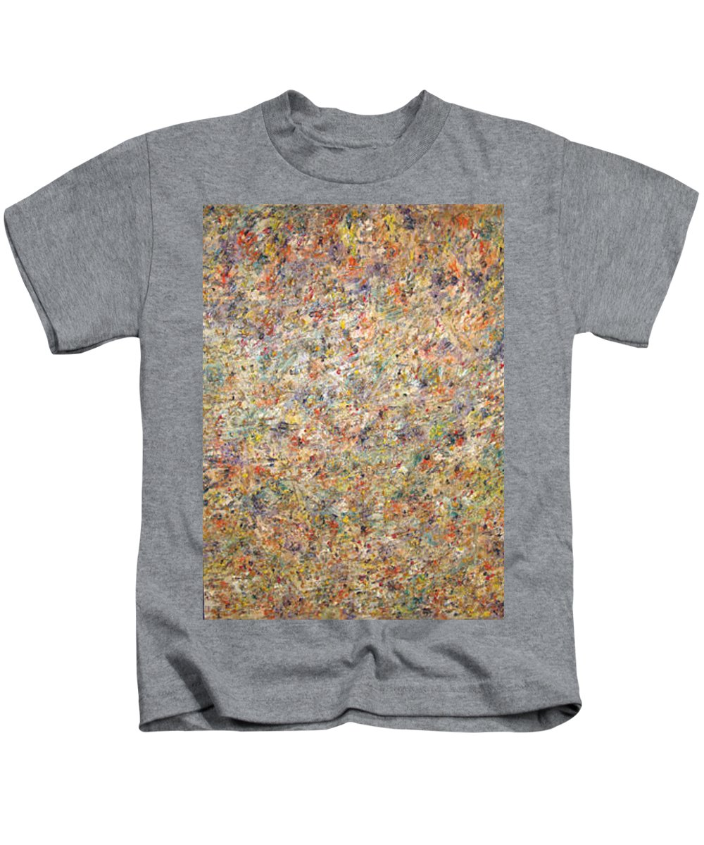 Moveonart! Digital Gallery Kids T-Shirt featuring the painting Moveonart Color Code 1 by Jacob Kanduch